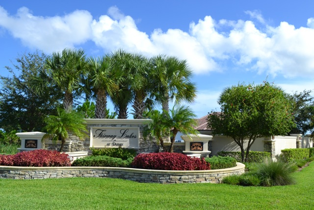 Entrance to the Fairway Lakes at Duran neighborhood in Viera, FL