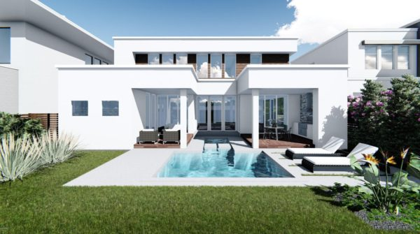 A to-be-built home offered for sale in Modern Duran, Viera, FL