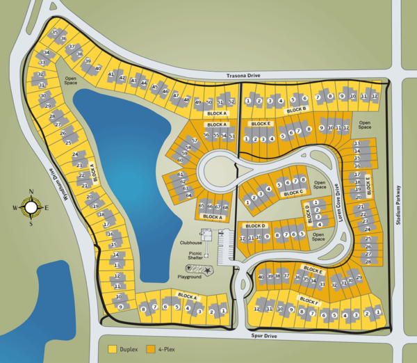 New multi-family community of Loren Cove by Viera Builders